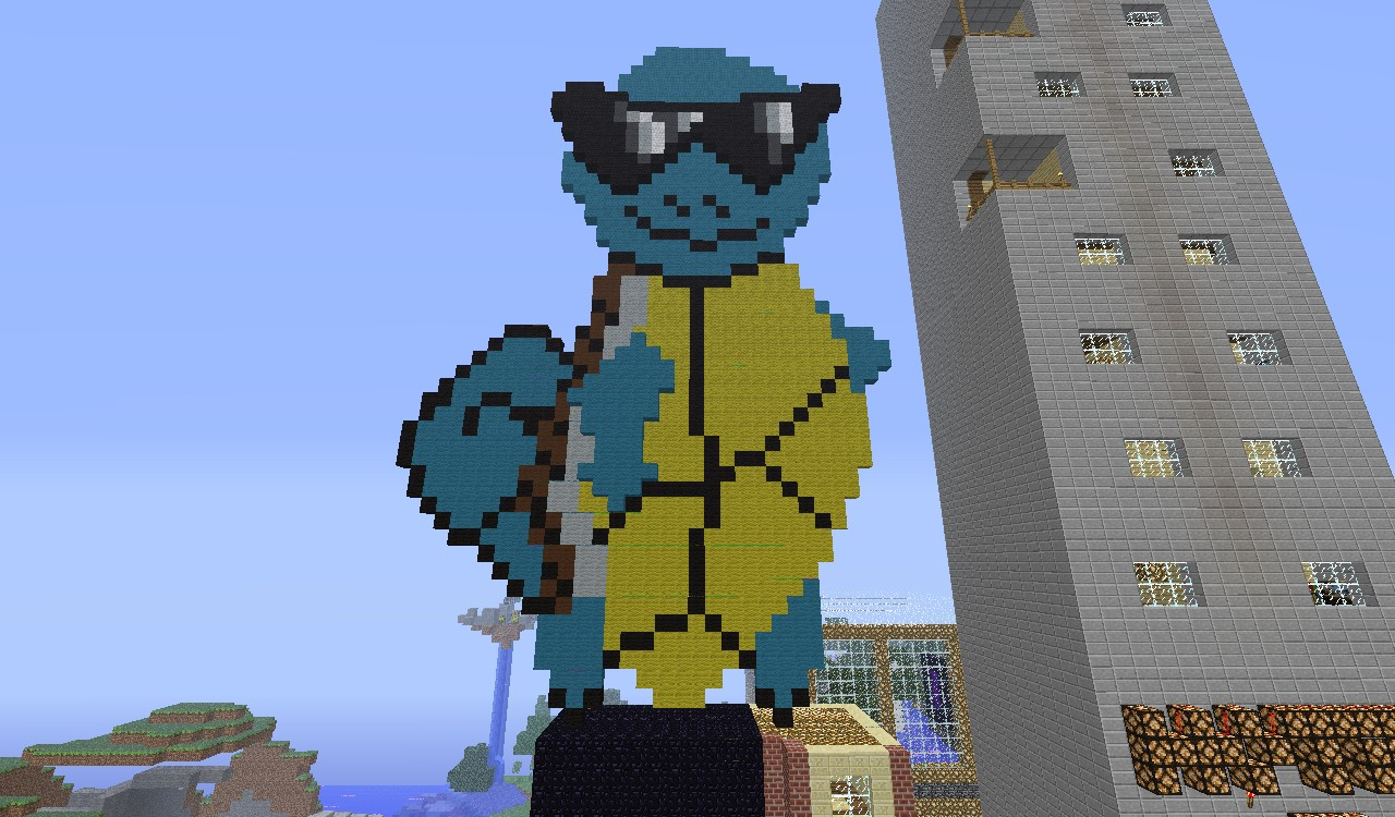 Squirtle Squad Pixel Art Minecraft Blog