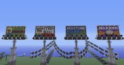Modern City Creation: Billboard Minecraft