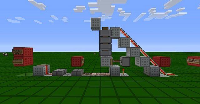 One Wide Minecart Storage System!