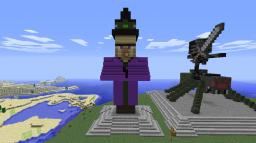 Mob Statues Witch & Bat Minecraft Map & Project