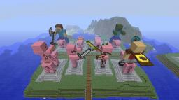 Mob Statues Piggie Island & The Land of Sheeps Minecraft Map & Project