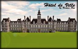 Hôtel de Ville, Paris (1:1) Minecraft