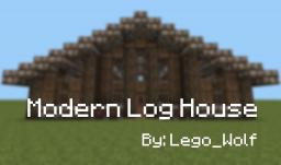 Modern Log House Minecraft Map & Project