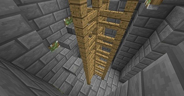Minecraft Spiral Staircase : Block high retractable spiral staircase minecraft project
