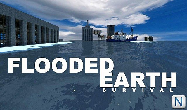 FLOODED EARTH SURVIVAL Minecraft Project - Flooded earth map