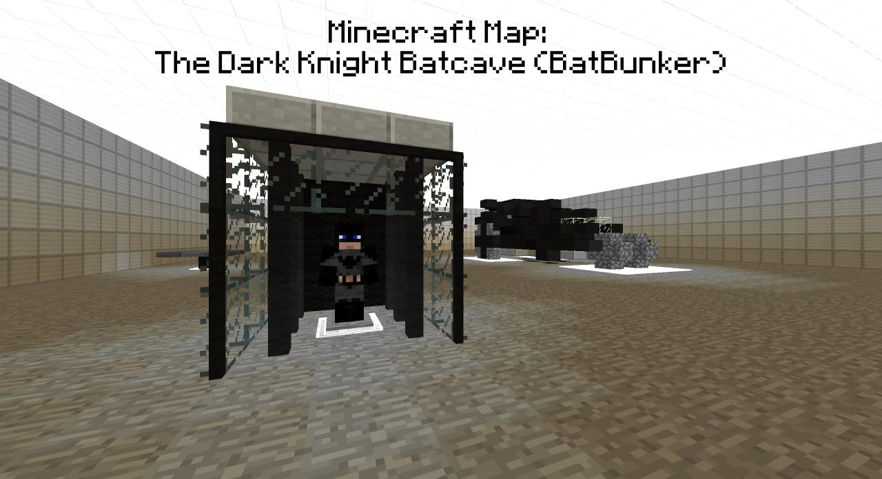 minecraft pe how to build the batcave