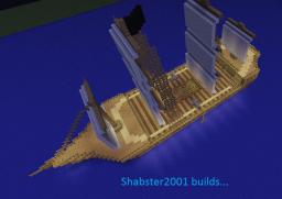 Simple pirate boat Minecraft