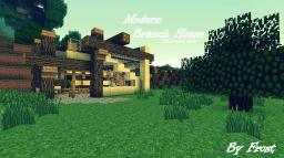 Modern Branch House (First Proper Build) Minecraft Map & Project