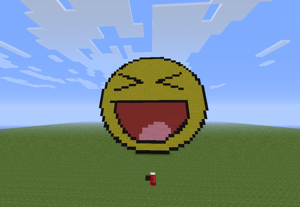 Pixel Art Smiley Face Minecraft Project