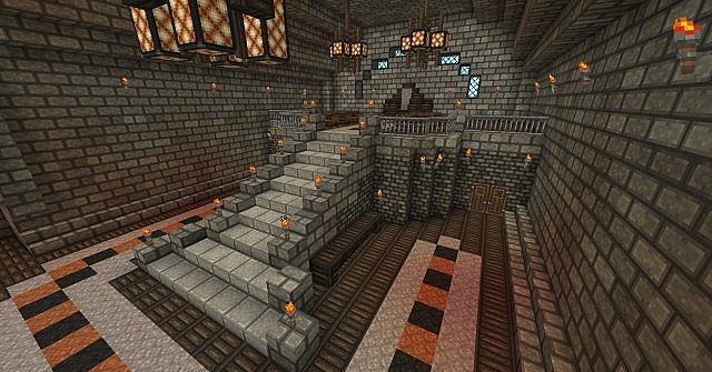 Minecraft throne design images for Minecraft lounge ideas