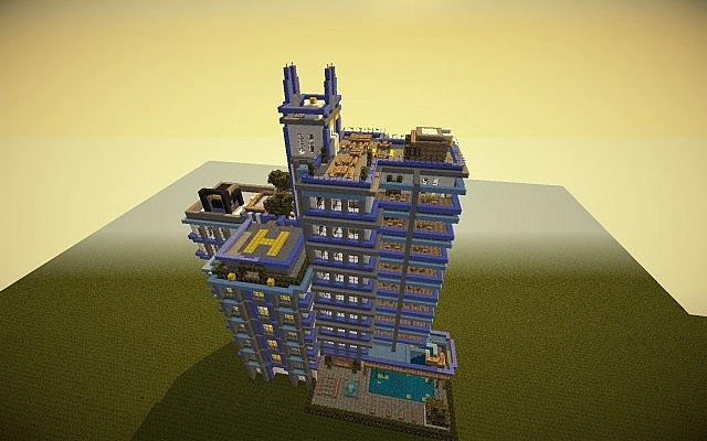 Modern Apartment Hotel By Hellshell 169 Minecraft Project