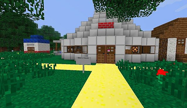 Goku's House with the Texture Pack
