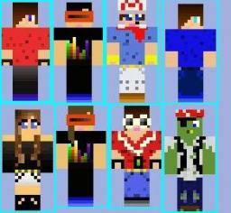 Dusty's Customz Skin Pack #1 Minecraft Texture Pack