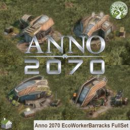 Anno 2070 EcoWorkerBarracks FullSet Minecraft Map & Project