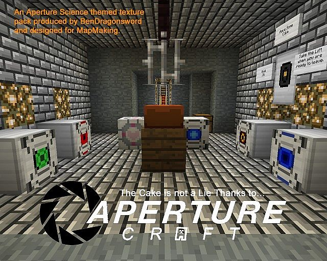 Portal - ApertureCraft Minecraft Texture Pack