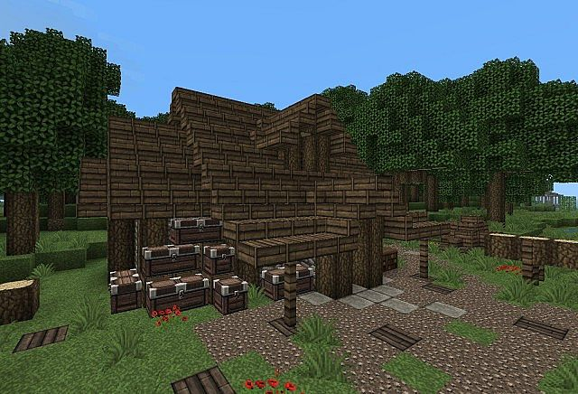 Medieval Hut And Woodcutter Minecraft Project