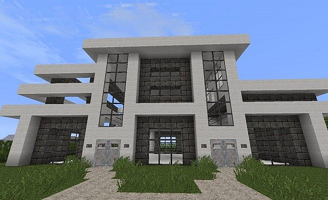 Epic modern house minecraft project for Epic house designs