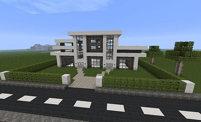 Epic modern house minecraft project for Minecraft modern house 7x7