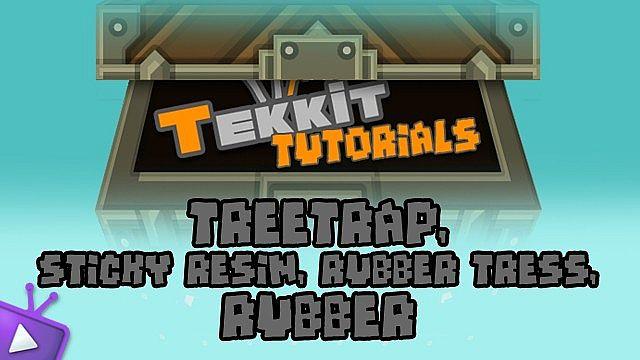 Copper Cable Tekkit : Tekkit tutorial treetap sticky resin rubber minecraft