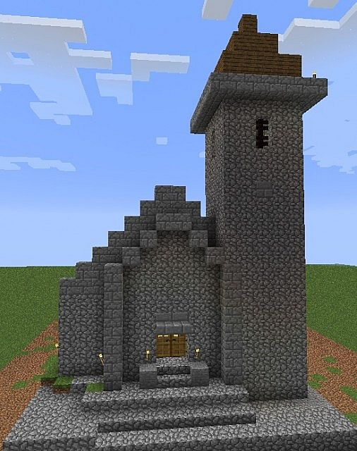 Church Minecraft Project Village Medieval