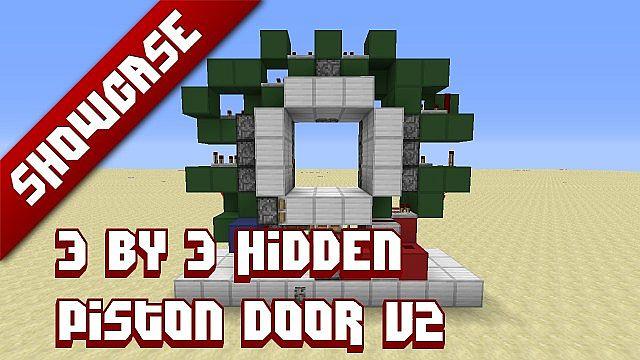3x3 hidden piston door minecraft project for 10 ways to make a secret door in minecraft