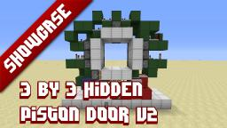 3x3 hidden piston door Minecraft Project