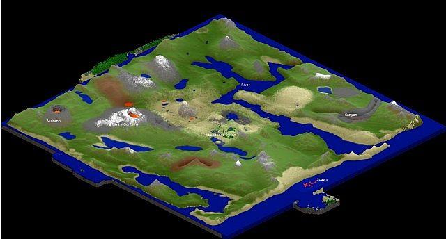 Custom Dayz Minez Inspired Continent Map Minecraft Map