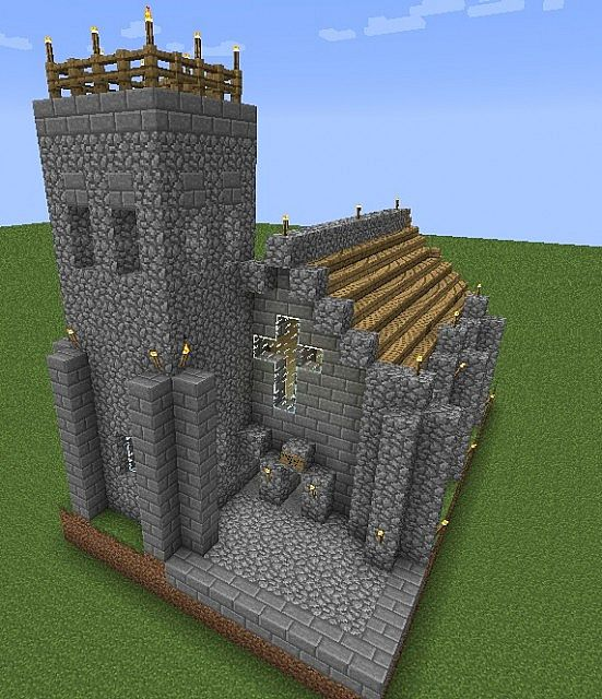 Little Medieval Village Church Minecraft Project