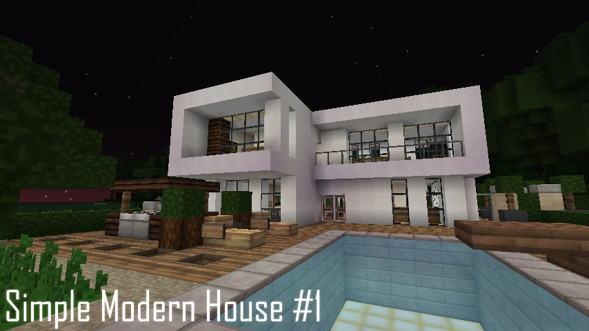Simple modern house 1 minecraft project for Simple modern house minecraft