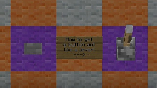 minecraft redstone tutorial how to make a button to act