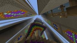 Rainbow Stairs 2.0! Huge Kingdom Expansion! Minecraft Map & Project