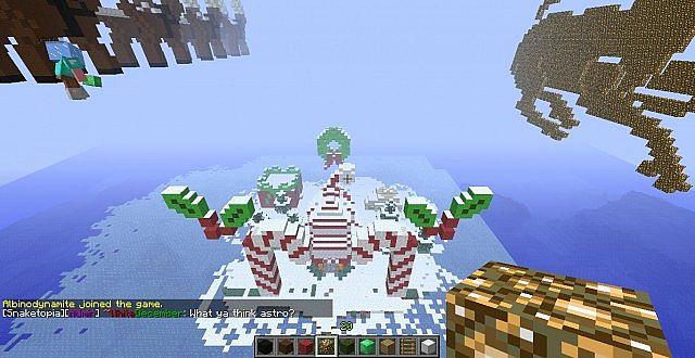 Santas Village w/Reindeer and sleigh added Minecraft Project