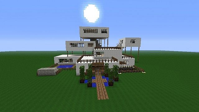 minecraft how to build a big modern house