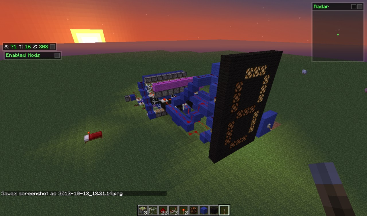 Digital 1 9 Redstone Clock With A One Tick Dilay Minecraft Project