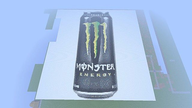 Monster Energy Can Pixel Art Minecraft Project