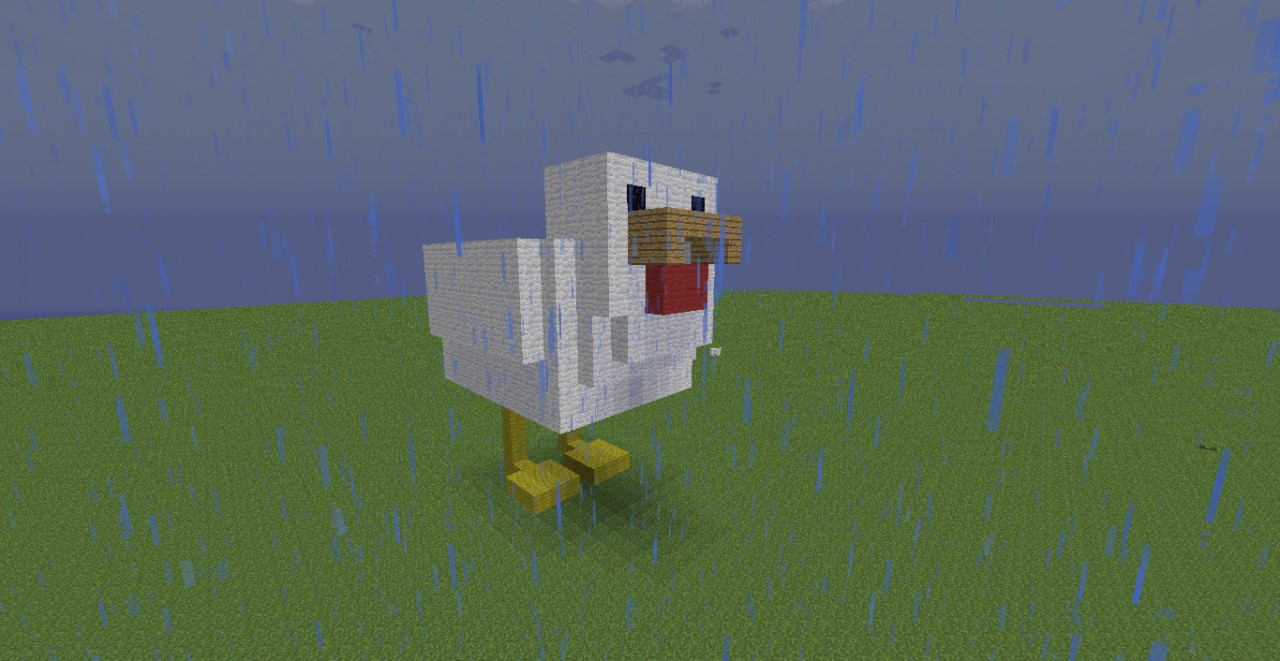 Chicken Pixel Art Minecraft Project