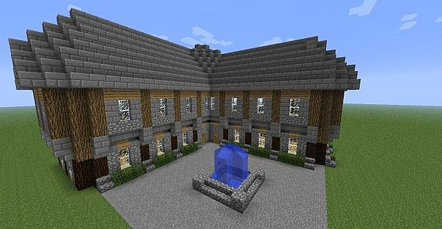 how to build a big house in minecraft