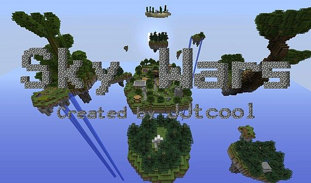 Sky Wars: A PvP Map In The Sky!