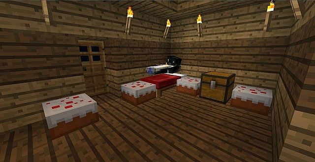 Bedroom with cake!