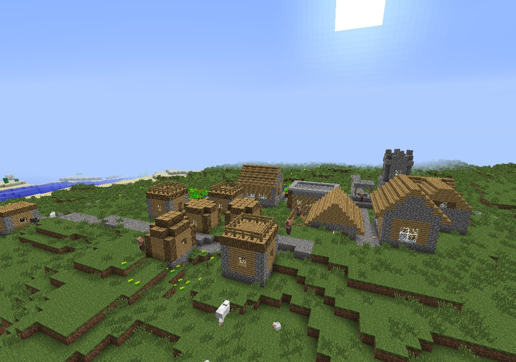 1 7 2] Minecraft Seed - Grass Village and a Desert Temple