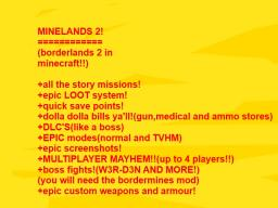 Minelands 2!(borderlands 2 in mineraft)(what to expect)[NYAN CAT EASTER EGG] Minecraft Map & Project