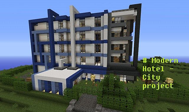 Modern hotel minecraft project for Modern hotel
