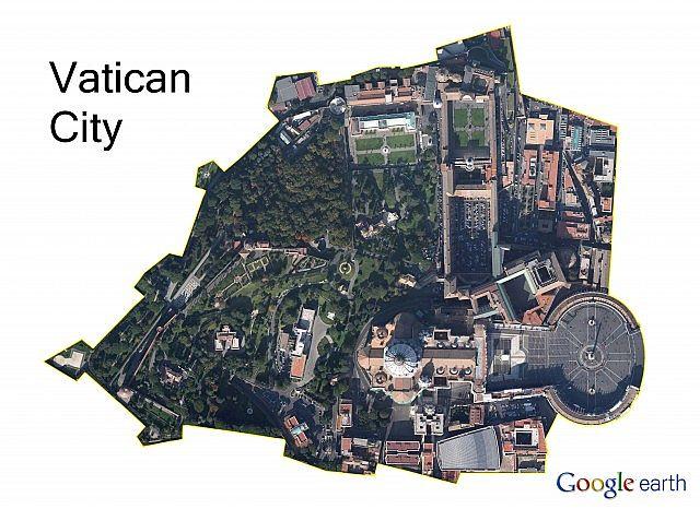 A satelite image taken in google maps.