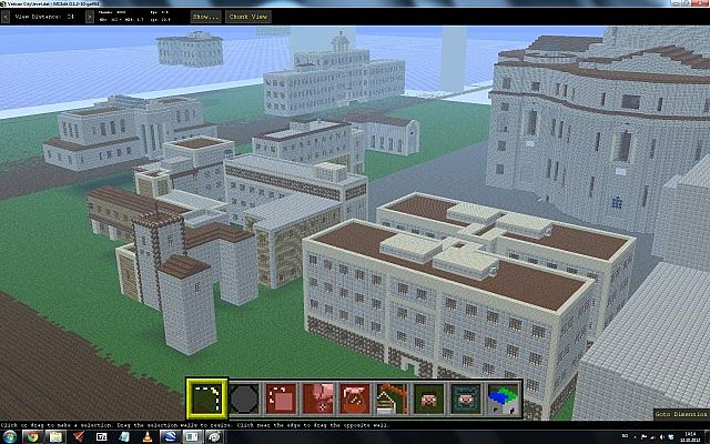 OLD picture taken in McEdit. The map in this picture was deleted and does not exist anymore, but shows how it most likely will look after rebuilding it again.
