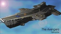 The Avengers - S.H.I.E.L.D Helicarrier with download and schematic! Minecraft Map & Project