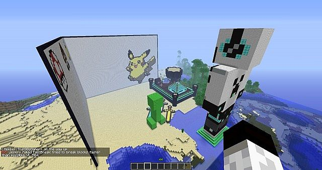 overview of spawn building and scenery