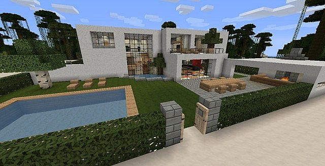 Modern mansion by blakedolak 40 sub special minecraft project for Minecraft haus modern