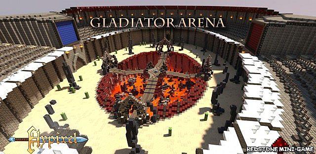 Gladiator Arena Team Deathmatch PvP Map Minecraft Project - Mapas para minecraft 1 10 2