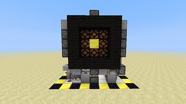 minecraft 3x3 piston door cnb