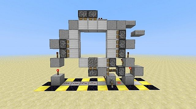 smallest 1 wide experimental 3x3 piston door minecraft project